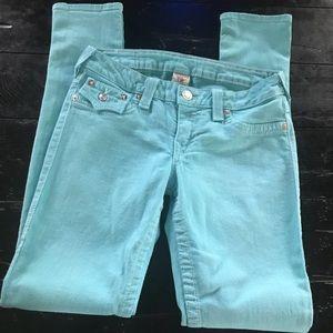 ‼️TRUE RELIGION Turquoise Jeans!!